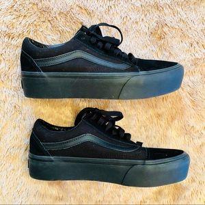 498d06879ea783 Vans Shoes - Vans Old Skool platform triple black sneakers 7